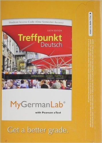 9780205049035: MyGermanLab with Pearson eText -- Access Card -- for Treffpunkt Deutsch: Grundstufe (one semester access) (6th Edition)