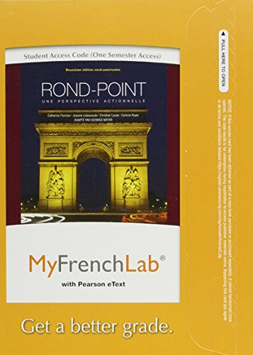 9780205049936: MyFrenchLab with Pearson eText -- Access Card -- for Rond-Point: une perspective actionnelle (one semester access) (2nd Edition)