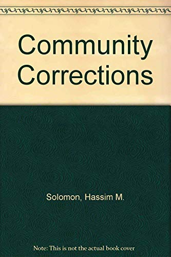 9780205049967: Community Corrections (Holbrook Press criminal justice series)