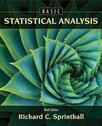 9780205052172: Basic Statistical Analysis (9th Edition)