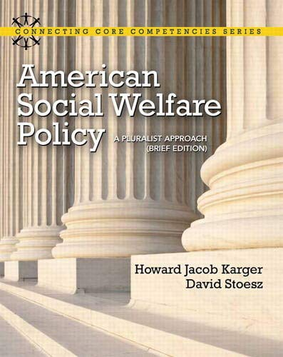 American social welfare policy: howard karger: 9780205053285.