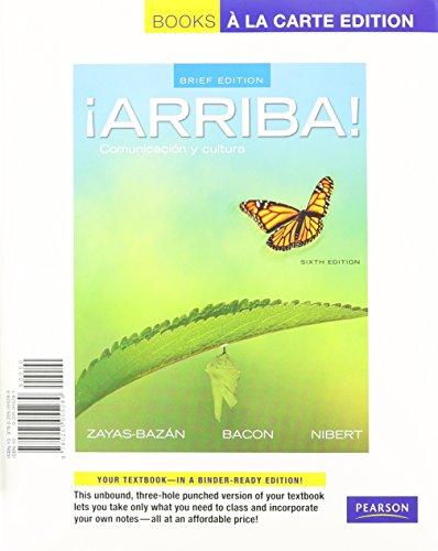9780205055289: Arriba: Comunicacion y cultura, Brief Edition, Books a la Carte Edition (6th Edition)