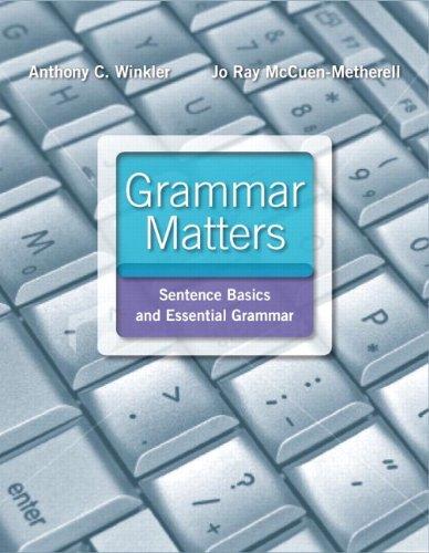 9780205057054: Grammar Matters