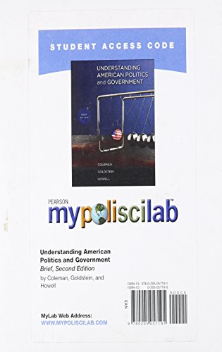 9780205057191: MyPoliSciLab Student Access Code Card for Understanding American Politics and Government, Brief Edition (Standalone) (2nd Edition)