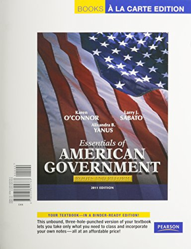 9780205059041: Essentials of American Government: Roots and Reform, Books a La Carte Edition