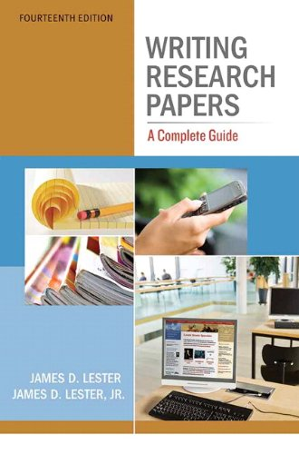 9780205059331: Writing Research Papers: A Complete Guide (14th Edition)