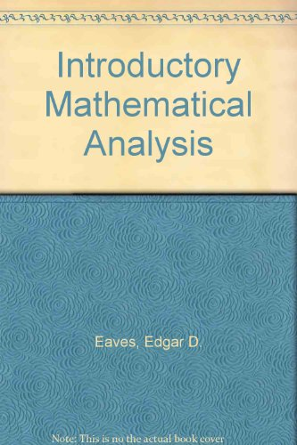 9780205059911: Introductory Mathematical Analysis