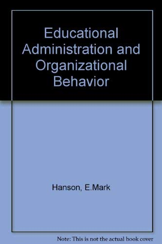 9780205061648: Educational Administration and Organizational Behavior