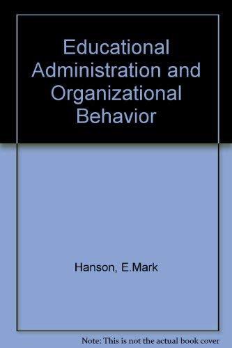 9780205061648: Educational Administration and Organizational Behavior