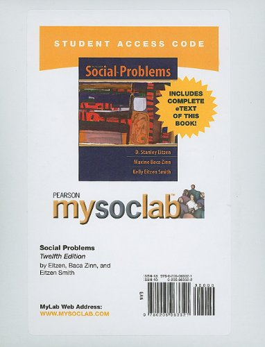 9780205063321: MySocLab with Pearson eText -- Standalone Access Card -- for Social Problems (12th Edition) (Mysoclab (Access Codes))