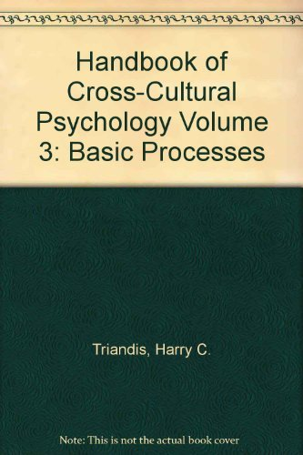 Handbook of Cross-Cultural Psychology. Volume 3: Basic Processes.