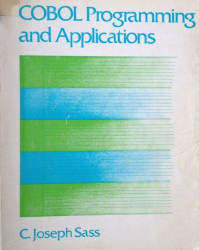 9780205065509: Cobol: Programming and Applications