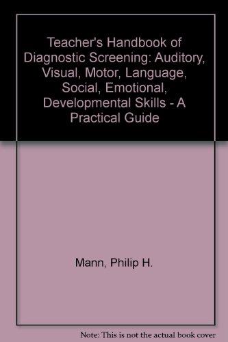 9780205066261: Teachers Handbook of Diagnostic Screening
