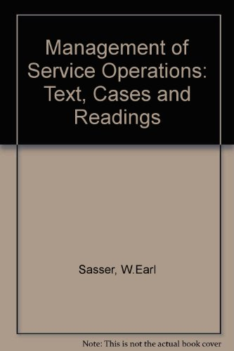 9780205068203: Management of Service Operations: Text, Cases and Readings