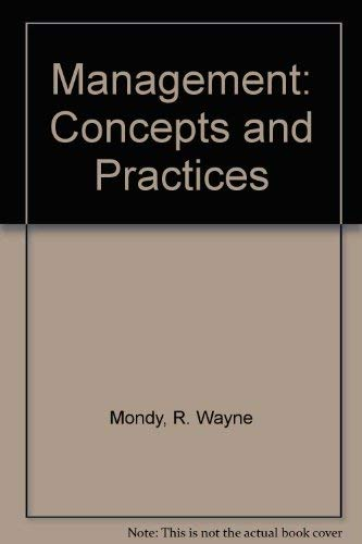 9780205068593: Management: Concepts and Practices