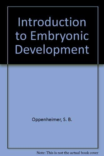 9780205068999: Introduction to Embryonic Development