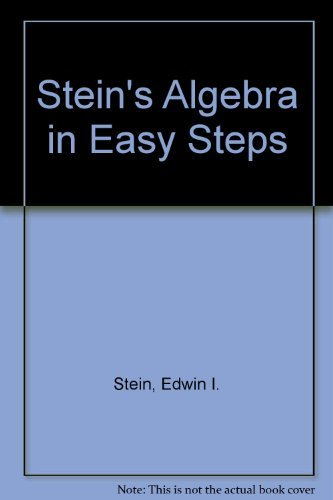 9780205069569: Stein's Algebra in Easy Steps