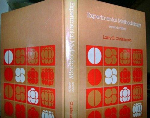9780205069606: Experimental Methodology