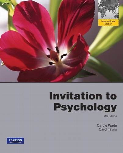9780205073047: Invitation to Psychology: International Edition: Development, Relationships and Culture: Instructor's Manual