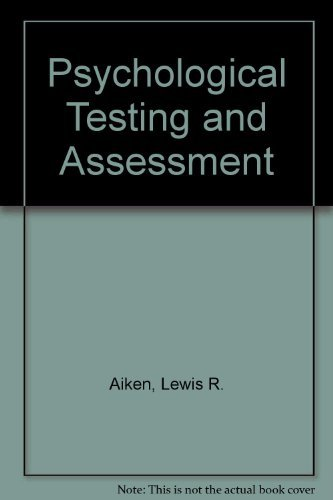9780205076109: Psychological Testing and Assessment