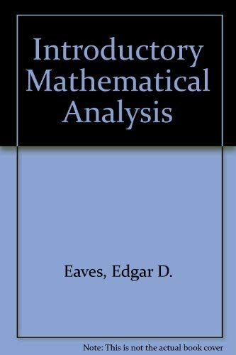 9780205082599: Introductory Mathematical Analysis