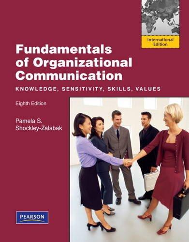 9780205082797: Fundamentals of Organizational Communication
