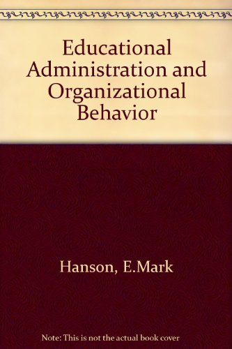 9780205083244: Educational Administration and Organizational Behavior