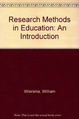 9780205083572: Research Methods in Education: An Introduction