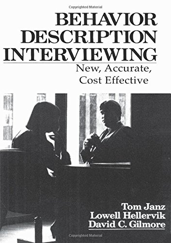 9780205085972: Behavior Description Interviewing: New, Accurate, Cost Effective
