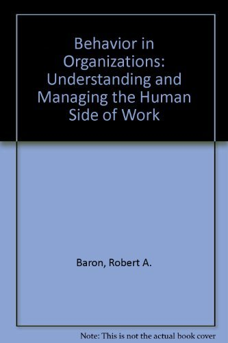 9780205086603: Behavior in Organizations: Understanding and Managing the Human Side of Work
