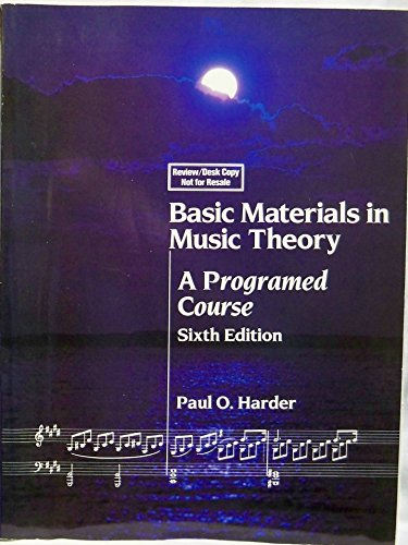 9780205086894: Basic Materials in Music Theory: A Programmed Course