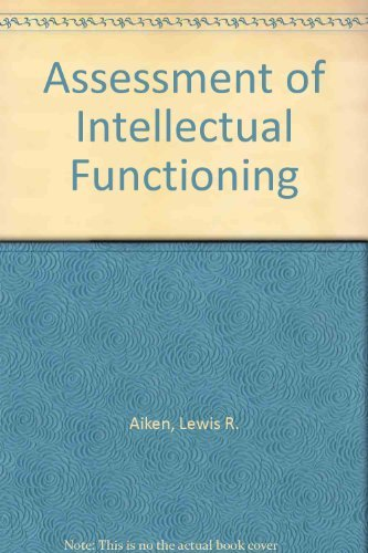 9780205088577: Assessment of Intellectual Functioning