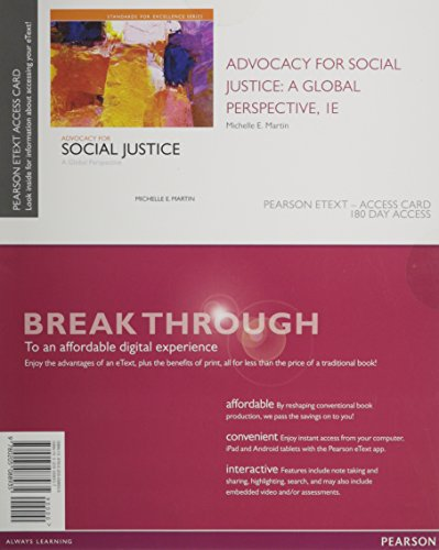 9780205088935: Advocacy for Social Justice: A Global Perspective, Enhanced Pearson eText -- Access Card