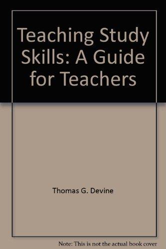 9780205089840: Teaching Study Skills: A Guide for Teachers