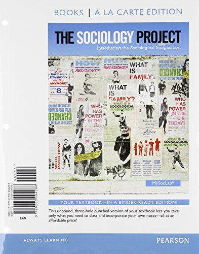 9780205094288: The Sociology Project: Introducing the Sociological Imagination, Books a la Carte Edition
