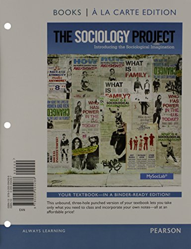 9780205094295: The Sociology Project: Introducing the Sociological Imagination, Core, Books a la Carte Plus NEW MySocLab with Pearson eText -- Access Card Package