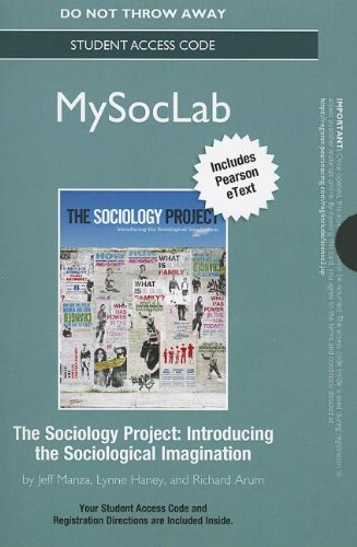 9780205095599: NEW MySocLab with Pearson eText -- Standalone Access Card -- for The Sociology Project: Introducing the Sociological Imagination