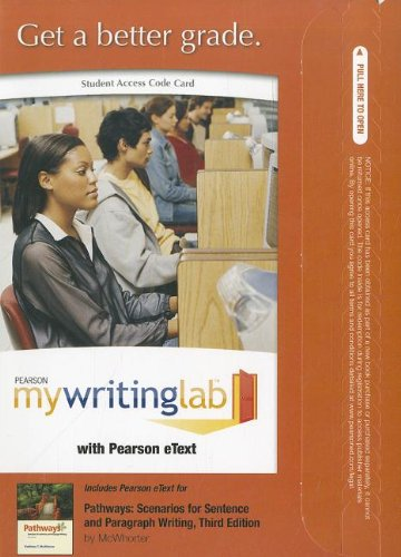 9780205097227: MyWritingLab with Pearson eText -- Standalone Access Card -- for Pathways (3rd Edition) (Mywritinglab (Access Codes))