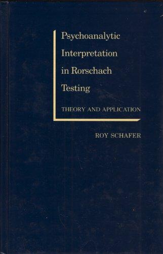 9780205101573: Psychoanalytic Interpretation in Rorschach Testing