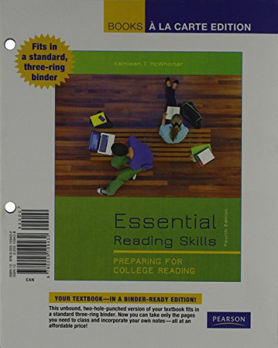 9780205109449: Essential Reading Skills, Books a la Carte Plus MyReadingLab with eText -- Access Card Package (4th Edition)