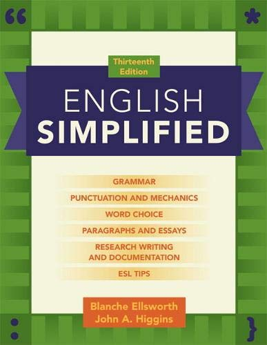 9780205110469: English Simplified (13th Edition)