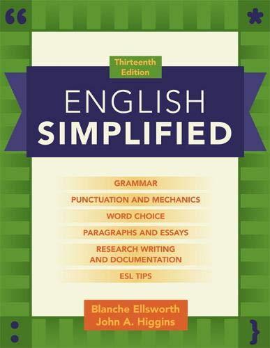 English Simplified (13th Edition): Blanche Ellsworth/ John A. Higgins