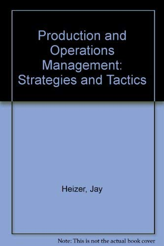 9780205114115: Production and Operations Management: Strategies and Tactics