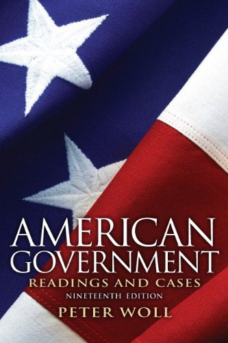 9780205116140: American Government: Readings and Cases
