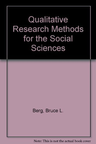 9780205117260: Qualitative Research Methods for the Social Sciences