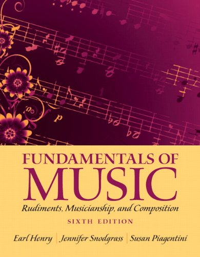 9780205118335: Fundamentals of Music: Rudiments, Musicianship, and Composition (6th Edition)