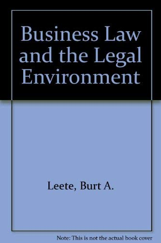 9780205118410: Business Law and the Legal Environment