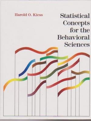 9780205118830: Statistical Concepts for the Behavioral Sciences