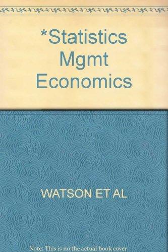 9780205121847: Statistics for Managemet and Economics
