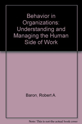 9780205122196: Behavior in organizations: Understanding and managing the human side of work